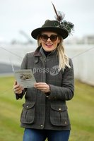 Press Eye - Belfast - Northern Ireland - 3rd November 2018 . Down Royal Festival of Racing - Day 2. Bookmaker Marcella McCoy from Dundalk pictured at Down Royal . Photo by Kelvin Boyes / Press Eye..