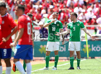 Press Eye - Belfast -  Northern Ireland - 03rd June 2018 - Photo by William Cherry/Presseye. Costa Rica\' and Northern Ireland have a drinks break  during Sunday mornings International Friendly at the Nuevo Estadio Nacional de Costa Rica in San Jose.   Photo by William Cherry/Presseye
