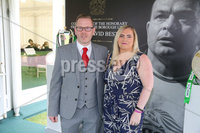 Press Eye - Belfast - Northern Ireland - 8th September 2018 - . Kevin and Wendy Savage pictured at the Archbishop's Palace in Armagh along with friends and family of Dr Rory Best OBE to witness the sportsman's conferment with the Freedom of the Borough of Armagh City, Banbridge and Craigavon..  . Photo by Kelvin Boyes / Press Eye..