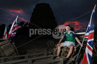 Press Eye - Belfast -  Northern Ireland - 09th July 2018 - Photo by William Cherry/Presseye. . Young men who built the bonfire at Ballymacash in Lisburn keep watch and guard the site all night before the \'Eleventh Night\' celebrations.