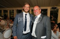 Press Eye - Belfast - Northern Ireland - 8th September 2018 - . Chris Henry and John Best  pictured  at the Archbishop's Palace in Armagh along with friends and family of Dr Rory Best OBE to witness the sportsman's conferment with the Freedom of the Borough of Armagh City, Banbridge and Craigavon..  . Photo by Kelvin Boyes / Press Eye..