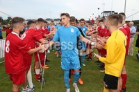 PressEye-Northern Ireland- 27th   July  2018-Picture by Brian Little/PressEye. SuperCupNI. Premier   Section . Co Down form a guard of honour for Serie  B Italia after their 2-0 win during the SuperCupNI Premier  Final  at Ballymena Showgrounds. . Picture by Brian Little/PressEye