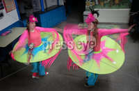 Press Eye - Larne Summer Festival Parade - 4th June 2016. Photograph Declan Roughan / Presseye. (L-R) Carla Dillon and Cara Burns from Lisa Dempsey School of Dancing