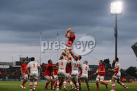 RaboDirect PRO 12, Thomond Park, Limerick 5/5/2012. Munster vs Ulster. Munster\'s Paul O\'Connell wins a lineout ball. Mandatory Credit ©INPHO/Cathal Noonan