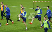 Press Eye - Belfast -  Northern Ireland - 11th November 2017 - Photo by William Cherry/Presseye. Northern Ireland players during Saturday nights training session at St. Jakob-Park ahead of Sunday nights World Cup Play Off against Switzerland in Basel.
