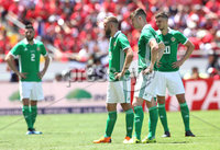 Press Eye - Belfast -  Northern Ireland - 03rd June 2018 - Photo by William Cherry/Presseye. Northern Ireland players at the end of Sunday mornings International Friendly at the Nuevo Estadio Nacional de Costa Rica in San Jose.   Photo by William Cherry/Presseye