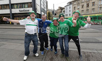 Press Eye - Belfast -  Northern Ireland - 11th November 2017 - Photo by William Cherry/Presseye. Northern Ireland fans in Basel ahead of Sunday nights World Cup Play Off against Switzerland at at St. Jakob-Park, Basel.