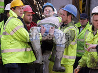 Building site collapse in Belfast City Centre..