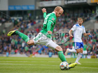 Press Eye Belfast - Northern Ireland 8th September 2018. UEFA Nations League 2019 Final Tournament at the National Stadium at Windsor Park.  Northern Ireland Vs Bosnia and Herzegovina. . Northern Ireland\'s Liam Boyce. Picture by Jonathan Porter/PressEye.com