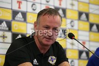PressEye-Northern Ireland- 10th September  2018-Picture by Brian Little/ PressEye. Northern Ireland  manager Michael O\'Neill at a press conference  ahead of Tuesday Friendly International Challenge match against Israel  at the National Football Stadium at Windsor Park.. Picture by Brian Little/PressEye .