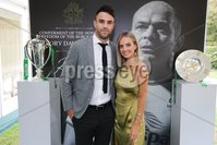 Press Eye - Belfast - Northern Ireland - 8th September 2018 - . Conor Murray and Joanna Cooper at the Archbishop's Palace in Armagh along with friends and family of Dr Rory Best OBE to witness the sportsman's conferment with the Freedom of the Borough of Armagh City, Banbridge and Craigavon..  . Photo by Kelvin Boyes / Press Eye..