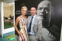 Press Eye - Belfast - Northern Ireland - 8th September 2018 - . Sarah Moore and Paddy Wallace pictured at the Archbishop's Palace in Armagh along with friends and family of Dr Rory Best OBE to witness the sportsman's conferment with the Freedom of the Borough of Armagh City, Banbridge and Craigavon..  . Photo by Kelvin Boyes / Press Eye..