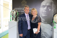 Press Eye - Belfast - Northern Ireland - 8th September 2018 - . John and Lorette McAllister pictured at the Archbishop's Palace in Armagh along with friends and family of Dr Rory Best OBE to witness the sportsman's conferment with the Freedom of the Borough of Armagh City, Banbridge and Craigavon..  . Photo by Kelvin Boyes / Press Eye..
