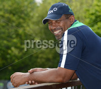 Mandatory Credit: Rowland White/Presseye. Cricket Ireland Press Conference to announce Squad for Austalian game at Stormont. Venue: Stormont. Date: 11th June 2012. Caption: Ireland Coach Phil Simmons