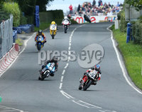 PressEye-Northern Ireland- 12th  August   2017-Picture by Brian Little/ PressEye. Paul Robinson Honda and Christain Elkin 250cc Honda Moto 3  at the Irelands   during  the Plant Lubrication (NI) National UltraLightweight/Lightweight Race  at the MCE Insurance Ulster Grand Prix, around the 7.4  mile Dundrod Circuit . Picture by Brian Little/PressEye