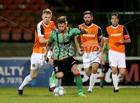 BetMcLean League Cup Round 3, The Oval, Belfast 10/10/2017. Glentoran vs Carrick Rangers. Glentoran\'s James Knowles. Mandatory Credit ©INPHO/Matt Mackey
