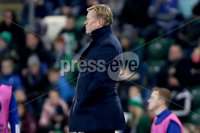 Press Eye - Belfast, Northern Ireland - 16th November 2019 - Photo by William Cherry/Presseye. Netherlands head coach Ronald Koeman during Saturday nights UEFA Euro 2020 Qualifier against Northern Ireland at the National Stadium, Belfast.     Photo by William Cherry/Presseye