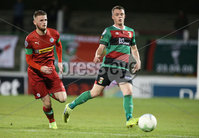 Danske Bank Premiership, The Oval, Belfast   4/10/2019. Glentoran  FC  vs Cliftonville  FC. Glentoran\'s  Christoper Gallagher and Rory Donnelly  of Cliftonville .. Mandatory Credit  INPHO/Brian Little
