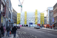 PressEye-Northern Ireland- 13th November 2019-Picture by PressEye. Work to reconstruct the fire-damaged Bank Buildings in Belfast City Centre,  may take another three years to complete.. Planning permission was granted by Belfast City  Council on Tuesday. . Picture by PressEye