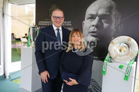 Press Eye - Belfast - Northern Ireland - 8th September 2018 - . Roger and Tracey Wilson pictured at the Archbishop's Palace in Armagh along with friends and family of Dr Rory Best OBE to witness the sportsman's conferment with the Freedom of the Borough of Armagh City, Banbridge and Craigavon..  . Photo by Kelvin Boyes / Press Eye..