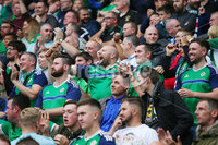 Press Eye Belfast - Northern Ireland 8th September 2018. UEFA Nations League 2019 Final Tournament at the National Stadium at Windsor Park.  Northern Ireland Vs Bosnia and Herzegovina. . Northern Ireland fans . Picture by Jonathan Porter/PressEye.com