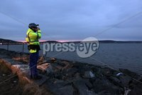 Press Eye - Belfast - Northern Ireland - 9th May 2012 . General view of a search operation ongoing in Belfast Lough after a woman and a baby fell into the water from a ferry making its way towards Belfast Port.. Picture by Press Eye