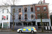 Press Eye - Belfast - Northern Ireland - 21st January 2020. The scene on University Road where a fire at a restaurant took place in the early hours of Tuesday morning. Police are treating the incident as arson. . Picture by Jonathan Porter/PressEye