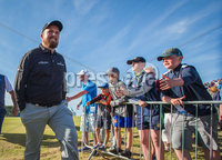 2018 Dubai Duty Free Irish Open - Day 1, Ballyliffin Golf Club, Co. Donegal 5/7/2018. Shane Lowry coming off the 18th green. Mandatory Credit ©INPHO/Oisin Keniry