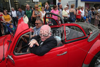 Press Eye - Larne Summer Festival Parade - 4th June 2016. Photograph Declan Roughan / Presseye. Councillor Billy Ashe, Mayor of Mid and East Antrim Borough leads the carnival.