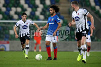 Unite the Union Champions Cup First Leg, National Football Stadium at Windsor Park, Belfast 8/11/2019. Linfield vs Dundalk. Linfield\'s Bastien Hery of Dundalk. Mandatory Credit  INPHO/Brian Little