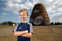 Press Eye - Belfast -  Northern Ireland - 10th July 2018 - Photo by William Cherry/Presseye. Young kids pictured at the Ballymacash bonfire in Lisburn before the \'Eleventh Night\' celebrations.