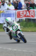 Mandatory Credit: Rowland White/Presseye. Motor Cycle Racing: Tandragee 100. Venue: Tandragee. Date: 05th April 2012. Caption: Seamus Elliott flat out on his 125cc Honda