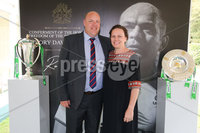 Press Eye - Belfast - Northern Ireland - 8th September 2018 - . Charles and Carrie Starkings pictured at the Archbishop's Palace in Armagh along with friends and family of Dr Rory Best OBE to witness the sportsman's conferment with the Freedom of the Borough of Armagh City, Banbridge and Craigavon..  . Photo by Kelvin Boyes / Press Eye..