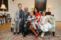 Press Eye - Belfast - Northern Ireland - 8th September 2018 - . RORY BEST AWARDED FREEDOM OF THE BOROUGH AT CEREMONY IN ARMAGH.  . Some of the biggest names from the world of rugby union gathered today at the Archbishop's Palace in Armagh along with friends and family of Dr Rory Best OBE to witness the sportsman's conferment with the Freedom of the Borough of Armagh City, Banbridge and Craigavon..  . The Lord Mayor, Alderman and Councillors awarded the honour to the Ulster, Ireland and Lions rugby star – only the second-ever granted - to recognise his huge contribution to both sport and the community in the borough..  . Rory Best and Lord Mayor, Cllr Julie Flaherty with the scroll at the Palace in Armagh. . Rory Best and wife Jodie along with his  children Ben, Penny and Richie pictured with Lord Mayor, Cllr Julie Flaherty and  . Photo by Kelvin Boyes / Press Eye..