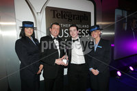 Press Eye - Belfast - Northern Ireland - Tuesday 24th April 2012 -  Picture by Kelvin Boyes / Press Eye.. 2012 Belfast Telegraph Northern Ireland Business Awards in association with bmi at the Ramada Hotel. Young Businessperson, sponsored by Bibby Finanical Services. Nick McCafferty of category sponsor Bibby Financial Services presented Padraic Sheerin from Allstate NI with the Young Manager of the Year award.