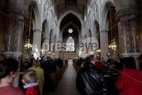 ©Press Eye Ltd Northern Ireland - 6th May 2012 - Mandatory Credit - Picture by Matt Mackey/presseye.com. Worshipers attend Armagh Cathedral after Sunday morning Mass.