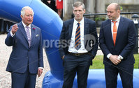 Press Eye - Belfast -  Northern Ireland - 22nd May 2019 - Photo by William Cherry/Presseye. . The Prince of Wales is pictured at the Palace Demesne, Armagh during his 2 day visit to Northern Ireland.  The Prince of Wales blows the whistle to start a \'game of two halves\' which brings together young rugby and GAA players