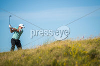 2018 Dubai Duty Free Irish Open - Day 1, Ballyliffin Golf Club, Co. Donegal 5/7/2018. Paul Dunne hits his approach into the 18th . Mandatory Credit ©INPHO/Oisin Keniry