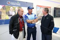 Press Eye - Belfast - Northern Ireland - 5th July  2018 . Dubai Duty Free Irish Open hosted by the Rory Foundation at Ballyliffin Golf Club, Co Donegal, Ireland.. Padraig Harrington with Colm McLoughlin and Des Smyth in the private, Dubai Duty Free Irish Open Chalet on the 18th Green at the Dubai Duty Free Irish Open at Ballyliffin Golf Club which was held from Wednesday 5th to Sunday 8th July.. Photo by Kelvin Boyes / Press Eye..