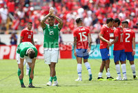 Press Eye - Belfast -  Northern Ireland - 03rd June 2018 - Photo by William Cherry/Presseye. Northern Ireland\'s Josh Magennis after the final whistle of Sunday mornings International Friendly against Costa Rica at the Nuevo Estadio Nacional de Costa Rica in San Jose.   Photo by William Cherry/Presseye