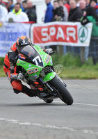 Mandatory Credit: Rowland White/Presseye. Motor Cycle Racing: Tandragee 100. Venue: Tandragee. Date: 05th April 2012. Caption: Ryan Farquhar leading the 450cc Race on his Kawasaki