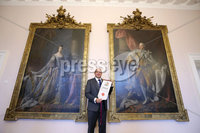 Press Eye - Belfast - Northern Ireland - 8th September 2018 - . RORY BEST AWARDED FREEDOM OF THE BOROUGH AT CEREMONY IN ARMAGH.  . Some of the biggest names from the world of rugby union gathered today at the Archbishop's Palace in Armagh along with friends and family of Dr Rory Best OBE to witness the sportsman's conferment with the Freedom of the Borough of Armagh City, Banbridge and Craigavon..  . The Lord Mayor, Alderman and Councillors awarded the honour to the Ulster, Ireland and Lions rugby star – only the second-ever granted - to recognise his huge contribution to both sport and the community in the borough..  . Rory Best  with the scroll at the Palace in Armagh. Photo by Kelvin Boyes / Press Eye..