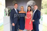 Press Eye - Belfast - Northern Ireland - 8th September 2018 - . Ross McCandless, Kirsty McCandless, Zoe Sloan and Johnny Sloan pictured at the Archbishop's Palace in Armagh along with friends and family of Dr Rory Best OBE to witness the sportsman's conferment with the Freedom of the Borough of Armagh City, Banbridge and Craigavon..  . Photo by Kelvin Boyes / Press Eye..
