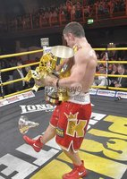 Press Eye - Belfast - Northern Ireland - 4th May 2012. Betfair Prizefighter Irish Middleweights Competition at The Kings Hall, Belfast. PrizeFighter Final winner Eamonn O\'Kane. ©Russell Pritchard / Presseye