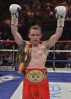 ©Russell Pritchard / Presseye - 26th May 2012. Matchroom Sports : Super Bantamweight fight for the Vacant IBF Inter-Continental Belt between Carl Frampton (Belfast) and Raul Hirales, (Mexico) at The Capital FM Arena, Nottingham. ©Russell Pritchard / Presseye