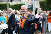 Press Eye - Belfast - Northern Ireland - 12th July 2018 . Gordon Dunne takes part in the North Down \'Twelfth\' celebrations in Newtownards town centre, County Down.. Photo by Kelvin Boyes / Press Eye..