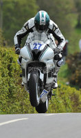 Mandatory Credit: Rowland White/Presseye. Motor Cycle Racing: Tandragee 100. Venue: Tandragee. Date: 05th April 2012. Caption: James McCann, Supersport