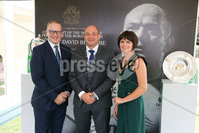 Press Eye - Belfast - Northern Ireland - 8th September 2018 - . Rory Best pictured with Lord Mayor, Cllr Julie Flaherty and Armagh City, Banbridge and Craigavon Council CEO Roger Wilson at the Archbishop's Palace in Armagh along with friends and family of Dr Rory Best OBE to witness the sportsman's conferment with the Freedom of the Borough of Armagh City, Banbridge and Craigavon..  . Photo by Kelvin Boyes / Press Eye..