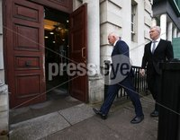 Press Eye - Belfast - Northern Ireland - 15th September 2020 . Barry McGuigan pictured as he heads into a High Court showdown with Carl Frampton in Belfast.. Mr Frampton, 32, is suing Mr McGuigan, his wife Sandra McGuigan and Cyclone Promotions (UK) Ltd, claiming a failure to pay purse money from his bouts.. Photo by Matt Mackey / Press Eye.