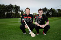 Press Eye - Belfast - Northern Ireland - 9th May 2012 . Ulster Camogie and GAA Hurling All Ireland Senior Championship. Picture by Elaine Hill / Press Eye. Michael Turley Down and Conor Mageean